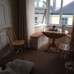 Our lovely little area in our bedroom to relax, work or enjoy a brew