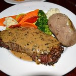 10oz NY peppercorn steak