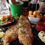 Fish & Chips in the Italian way at Uno's in Reykjavik!