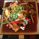 Basil sauce tofu! Yum