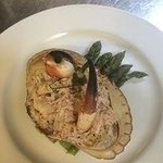 Crab Main with Asparagus