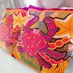 Gorgeous mola-inspired pillows