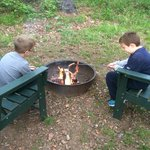 Fire Pit at Cabin 16 (2 composite chairs)