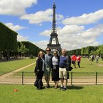 Carroll family at the Eiffel Tower - last stop on our Wego tour