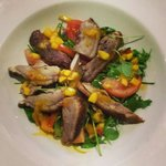 Crispy duck salad with mango dressing..........yum!!