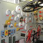Below decks in engine room