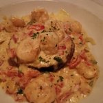 Shrimp and Eggplant Sicilia – Sautéed shrimp with eggplant and Italian cheeses, oven