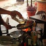 Preparing a mayan lobster!!!!