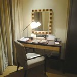 For an extended stay hotel, the desk is inadequate