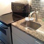 Granite with new stove