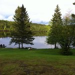 The view of Rangeley Lake from our cabin.