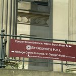 Sign for the St. George Hall