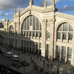 vista desde el balcon de mi habitación - Estación Gare du Nord