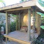 Private garden cabana