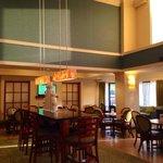 lounge doubles as breakfast area