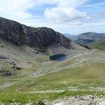View of Llyn Du'r Arddu from Llanberis Path