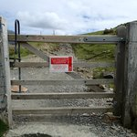 Entrance gate to the Llanberis path