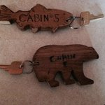 Cool key chains - fish and bear.