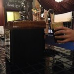 Hand pump and choc hops stout