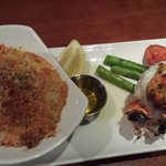 Stuffed lobster tail and Lobster mac and cheese