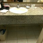 granite bath countertop and all soaps,shampoos etc