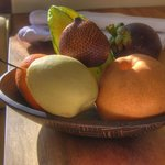 Complimentary Tropical Fruit Basket