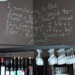 Winston Churchill quote in bar