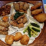 A set with 7 dishes