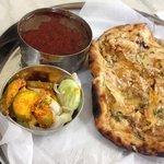 Aloo kulcha and dal fry