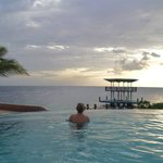 Beautiful sunsets in the infinity pool