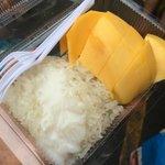 Mango Sticky Rice.. Yummy..!!  at Chatuchak Weekend Market