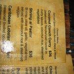 menu (Belize $)