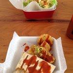 Taco and Quesadilla.