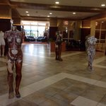 Modern Art exhibition in the hall of Caro hotel