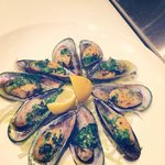 garlic buttered mussels