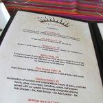 lunch appetizer menu