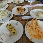 Selección de platos del buffet