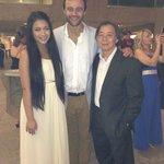 Derek yuen with south pacific actores Gyton Grantley and Celina Yuen.