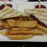 Club sandwich in lounge