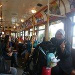 Inside the City Circle Tram