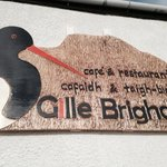 The Gille Brighde sign of the lovely Gille Brighde (oystercatcher) itself