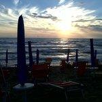 La spiaggia al tramonto!