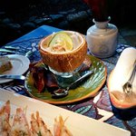 Ono and prawns