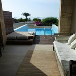 Terrasse and private pool