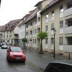 Вид улицы рядом с отелем