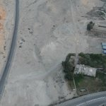 Aeriel view of Howard Carters house and location of new replica tomb of Tutankhamun