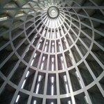 Внутри напоминает Шуховскую башню в Москве.