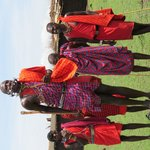 The nearby Masai village