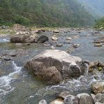 River flowing by