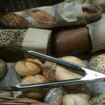 Selection of fresh breads